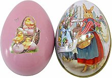 Cute Lovely Metal Easter Egg Shaped Candy Box