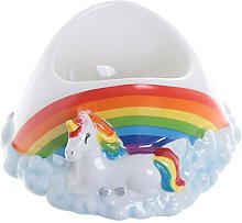 Cute Novelty Ceramic Rainbow Unicorns Egg Cup Gift