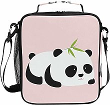 Cute Panda Pink Lunch Bag Insulated Lunch Box