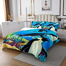 Cute Penguin Quilted Coverlet Funny Animal Quilted