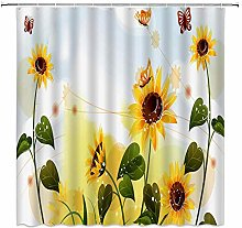 Cute Plush Bear Shower Curtain Romance Home Decor