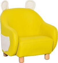 Cute PU Leather Animal Design Kids Armchair w/