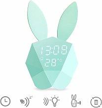 Cute Rabbit LED Night Light Bedside Lamp + alarm