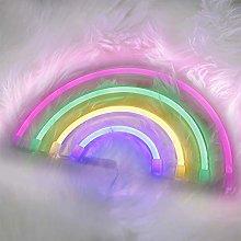 Cute Rainbow Neon Sign LED Rainbow Light for Dorm