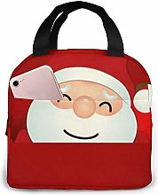 Cute Santa Claus Wolf Yellow Lunch Bag Insulated