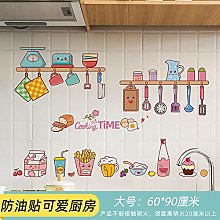 Cute Stickers Oil-Proof self-Adhesive cooktop