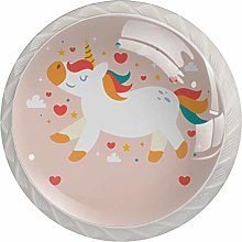 Cute Unicorn Loves Pink White Crystal Drawer
