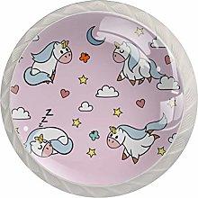 Cute Unicorn Pink Moon White Crystal Drawer