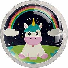 Cute Unicorn Rainbow Earth White Crystal Drawer