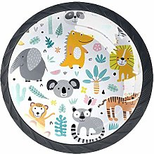 Cute with Jungle Animals and Plants Cabinet