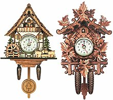 CUTICATE 2x Antique Cuckoo Clock Wall