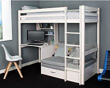 Cutler European Single High Sleeper Loft Bed with