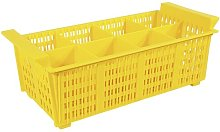 Cutlery Basket Symple Stuff Colour: Yellow