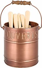 Cutlery Caddy Organiser Basket Dining Table Copper