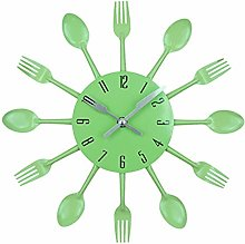 Cutlery Metal Kitchen Wall Clock Modern Design