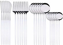 Cutlery Set, 24Pcs 18/10 stainless steel cutlery