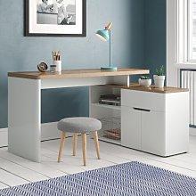 Cuuba Libre Corner Desk Jahnke Colour: Riviera Oak