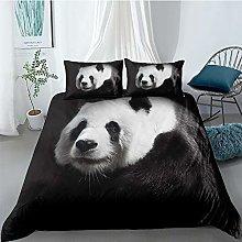 CUUGF Super King Duvet Covers Black Animal Panda
