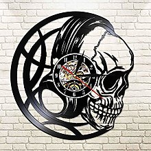 CVG 3D Watches Black Skull Head Wall Clock with