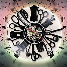 CVG Apparel Sewing Tools Vinyl Record Wall Clock