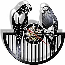 CVG Budgie Birds Vinyl LP Record Wall Clock Modern