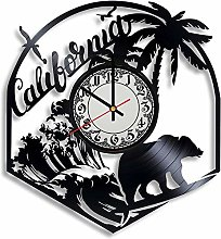 CVG California Vinyl Record Wall Clock, California