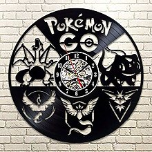 CVG Cartoon Pokemon Retro CD Vinyl Record Clock