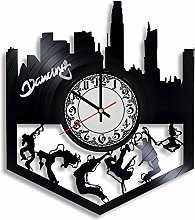 CVG Dancing Vinyl Record Wall Clock, Dancing Gift