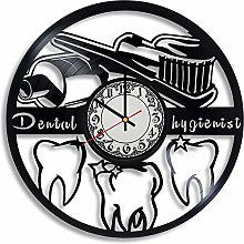 CVG Dental Hygienist Vinyl Record Wall Clock,