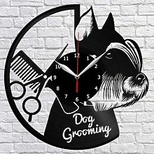 CVG Dog Grooming Salon Vinyl Record Wall Clock Fan