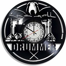 CVG Drummer Handmade Wall Clock, Gifts for Men,