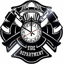 CVG Fire Department Vinyl Wall Clock, Vinyl Record