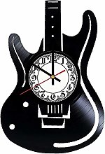 CVG Guitar Vinyl Record Wall Clock Guitar Wall