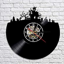 CVG Halloween Decorative Art Wall Clock With Color