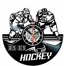 CVG Hockey Wall Clock Ice Hockey Vinyl Clock Wall