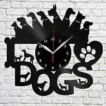 CVG I Love Dog Vinyl Record Wall Clock Home Decor