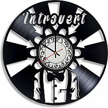 CVG Introvert Vinyl Record Wall Clock, Introvert