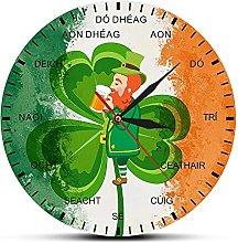 CVG Ireland Flag Shamrock Clock Four Leaf Clover