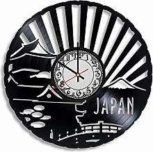 CVG Japan Vinyl Record Wall Clock, Japan Gift for