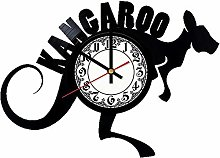 CVG Kangaroo Wild Animal Vinyl Record Wall Clock
