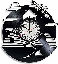 CVG Literary Vinyl Record Wall Clock, Literary