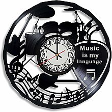 CVG Music Vinyl Record Wall Clock, Gifts for Him