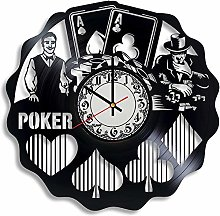 CVG Poker Vinyl Wall Clock, Gifts for Him, Poker
