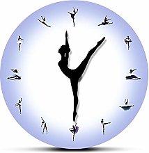 CVG Purple Ballerina Wall Clock With Dancing Clock