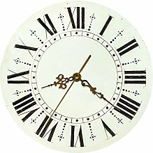 CVG Retro Rustic Round Wall Clock With Roman