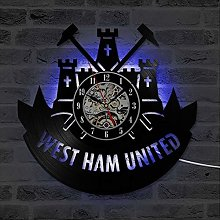CVG West Ham United Wall Clock with 7 Color Change