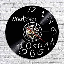 CVG Whatever Clock Vinyl Record Wall Clock With