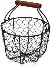 CVHOMEDECO. Chicken Wire Egg Basket Fruit Basket