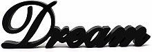 CVHOMEDECO. Matt Black Wooden Words Sign Free