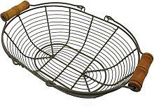 CVHOMEDECO. Metal Wire Egg Basket Wire Basket with